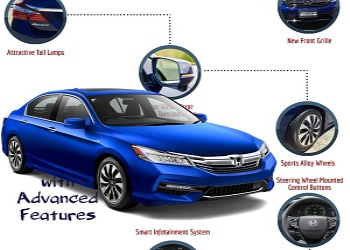 2017 Honda Accord Hybrid Bookings Open, Features Inside
