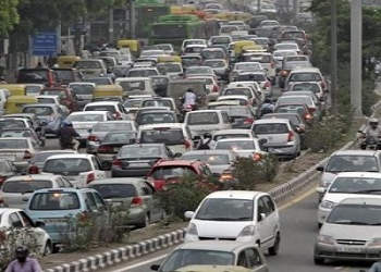 Cars In Delhi To Paste Different Colored Stickers On Their Windshield