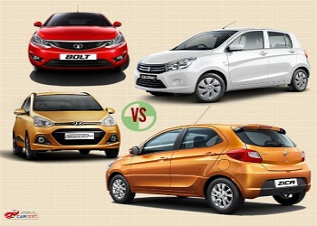 Upcoming Tata Zica vs Hyundai Grand i10 vs Maruti Celerio vs Tata Bolt