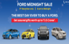 Ford Midnight Sale event to be held on 5th December
