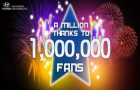 Hyundai India hits 1 million fan-base on Facebook