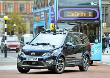 Self Driving Tata Hexa Caught Testing In United Kingdom
