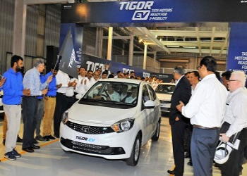 Tata Motors Dispatches First Fleet Of Electric Tigor To EESL