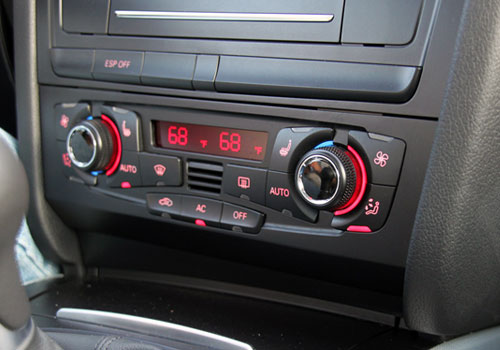 Audi A5 Rear AC Control Interior Picture