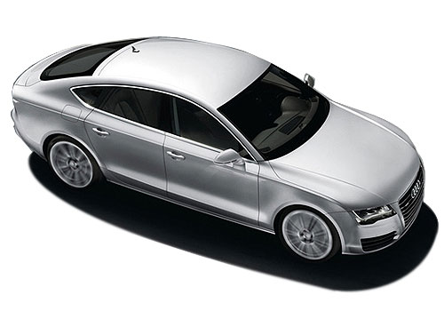 Audi A7 Top View Exterior Picture