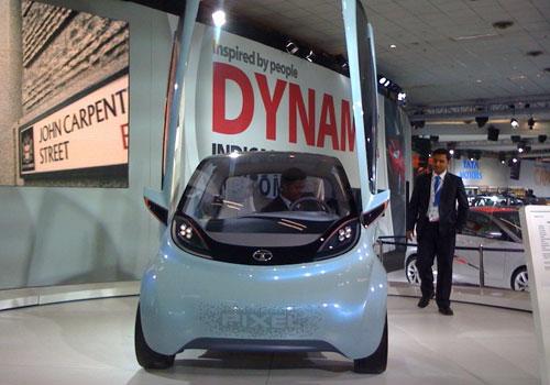 Tata Showcases Tata Emo Electric Car At Detroit Show