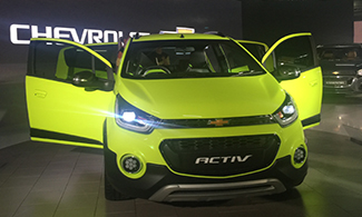 Auto Expo 2016 Chevrolet Beat Activ Front View