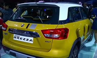 Vitara Brezza Rear View Auto Expo 2016