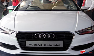 Audi A3 Cabriolet at 2016 Jaipur Auto Expo