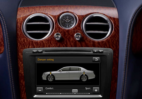 Bentley Continental Front AC Controls Interior Picture