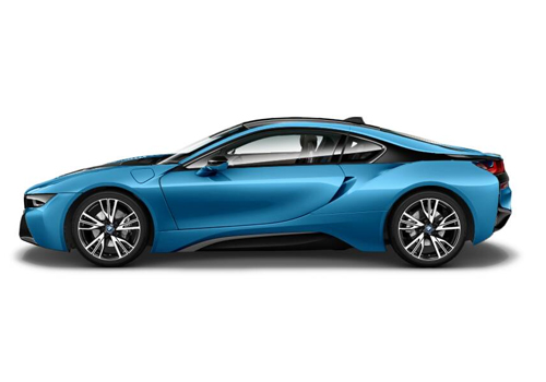 BMW i8 Front Angle Side View Exterior Picture