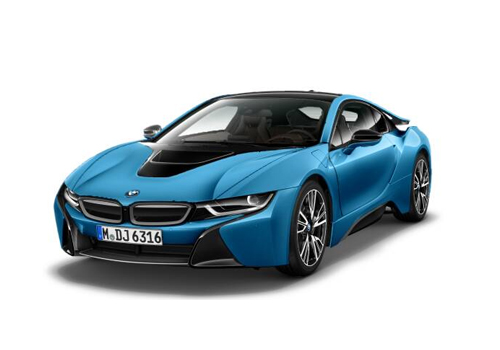 BMW i8 Front High Angle View Exterior Picture