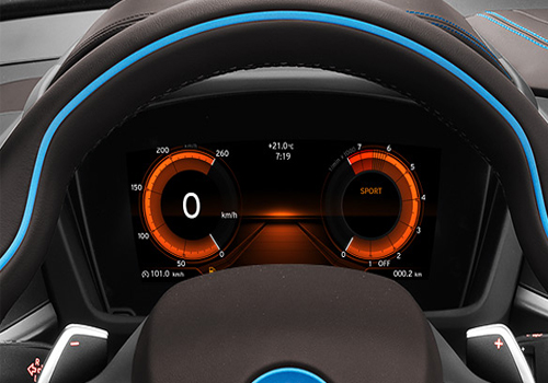 BMW i8 Tachometer Interior Picture