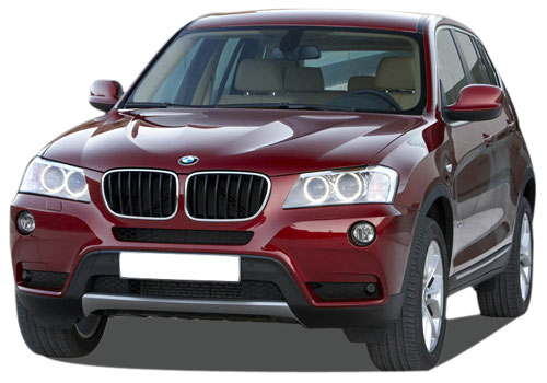 BMW X3 Front High Angle View Exterior Picture