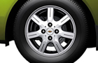 Chevrolet Beat Wheel and Tyre Picture