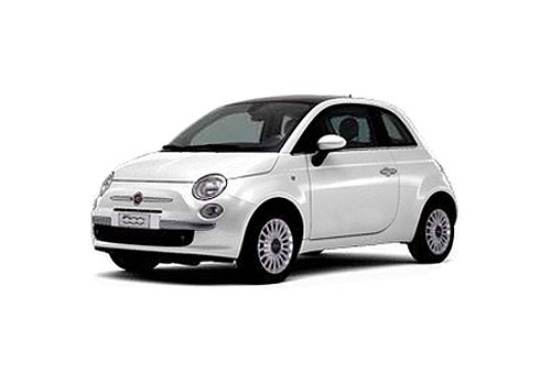 Fiat 500 Front Angle View Picture