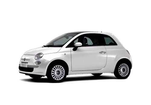 Fiat 500 Front Angle Low Wide Exterior Picture