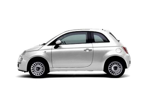 Fiat 500 Front Angle Side View Exterior Picture