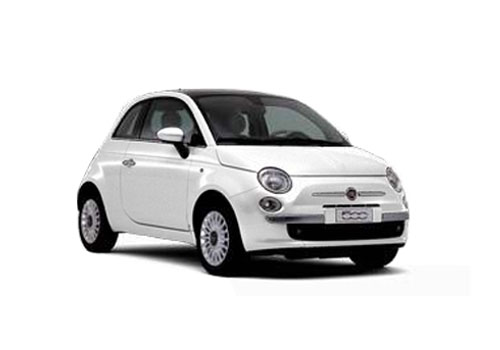 Fiat 500 Front Low Angle View Exterior Picture