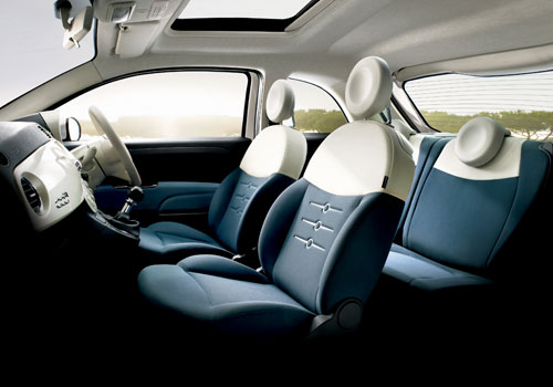 Fiat 500 Front Seats Interior Picture