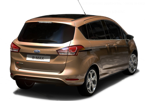 Ford B Max Rear Angle View Exterior Picture