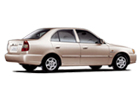 Hyundai Accent in Beige Color