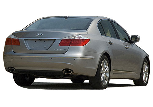 Hyundai Genesis Rear Angle View Exterior Picture