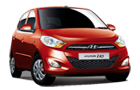 Hyundai i10 in Red Color