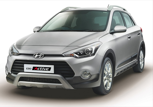 Hyundai i20 Active Front High Angle View Exterior Picture