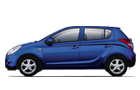 Hyundai i20 in Blue Color