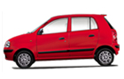 Hyundai Santro Xing in Dark Red Color