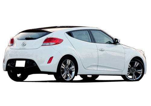 Hyundai Veloster Rear Angle View Exterior Picture