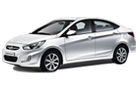 Hyundai Verna in White Color