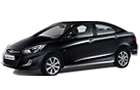 Hyundai Verna in Black Color