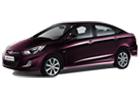 Hyundai Verna in Purple Color