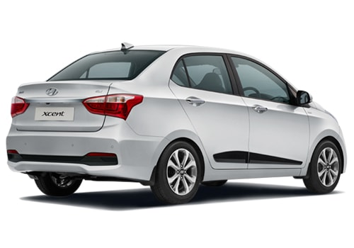 Hyundai Xcent Rear Angle View Exterior Picture