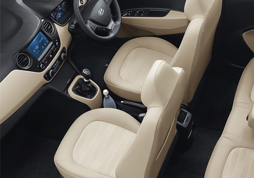 Hyundai Xcent Front Seats Interior Picture