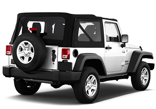 Jeep Wrangler Rear Angle View Exterior Picture