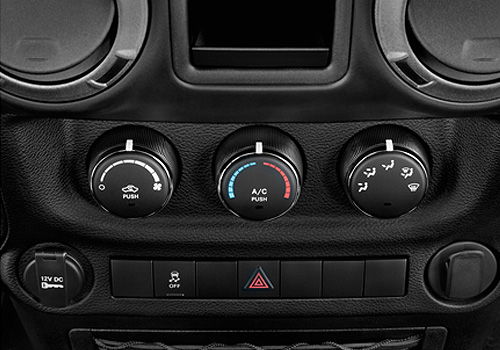 Jeep Wrangler Front AC Controls Interior Picture