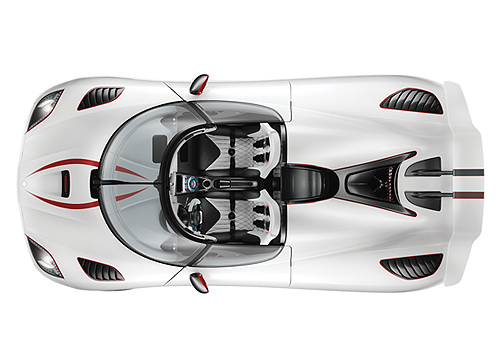 Koenigsegg Agera Top View Exterior Picture