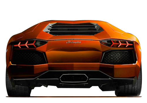 Lamborghini rear view