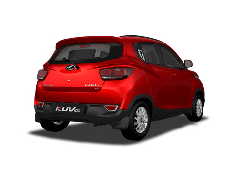 Mahindra KUV100 Rear Angle View Exterior Picture