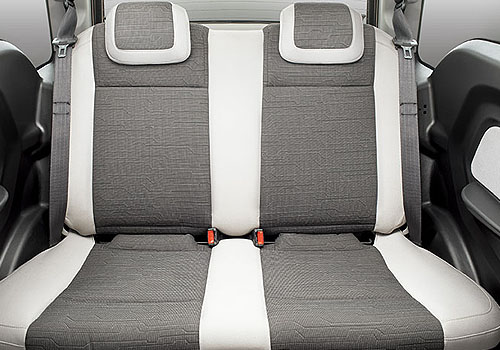 Mahindra Reva E20 Rear Seats Interior Picture