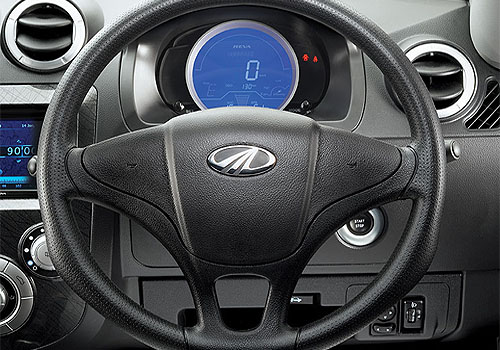 Mahindra Reva E20 Steering Wheel Interior Picture