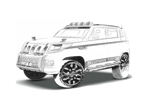 Mahindra TUV 300 Front Angle View Picture