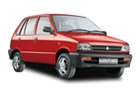 Maruti 800 in Red Color