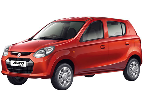 Maruti Alto 800 in Blazing Red Pearl Color