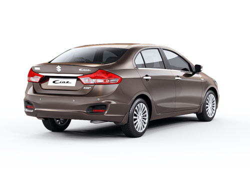 Maruti Ciaz Rear Angle View Exterior Picture