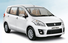 Maruti Ertiga in White Color