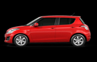 Maruti Swift in Red Color